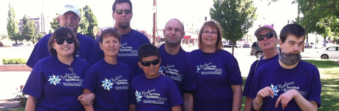 Eric's Team at the 2013 Run/Walk for Epilepsy