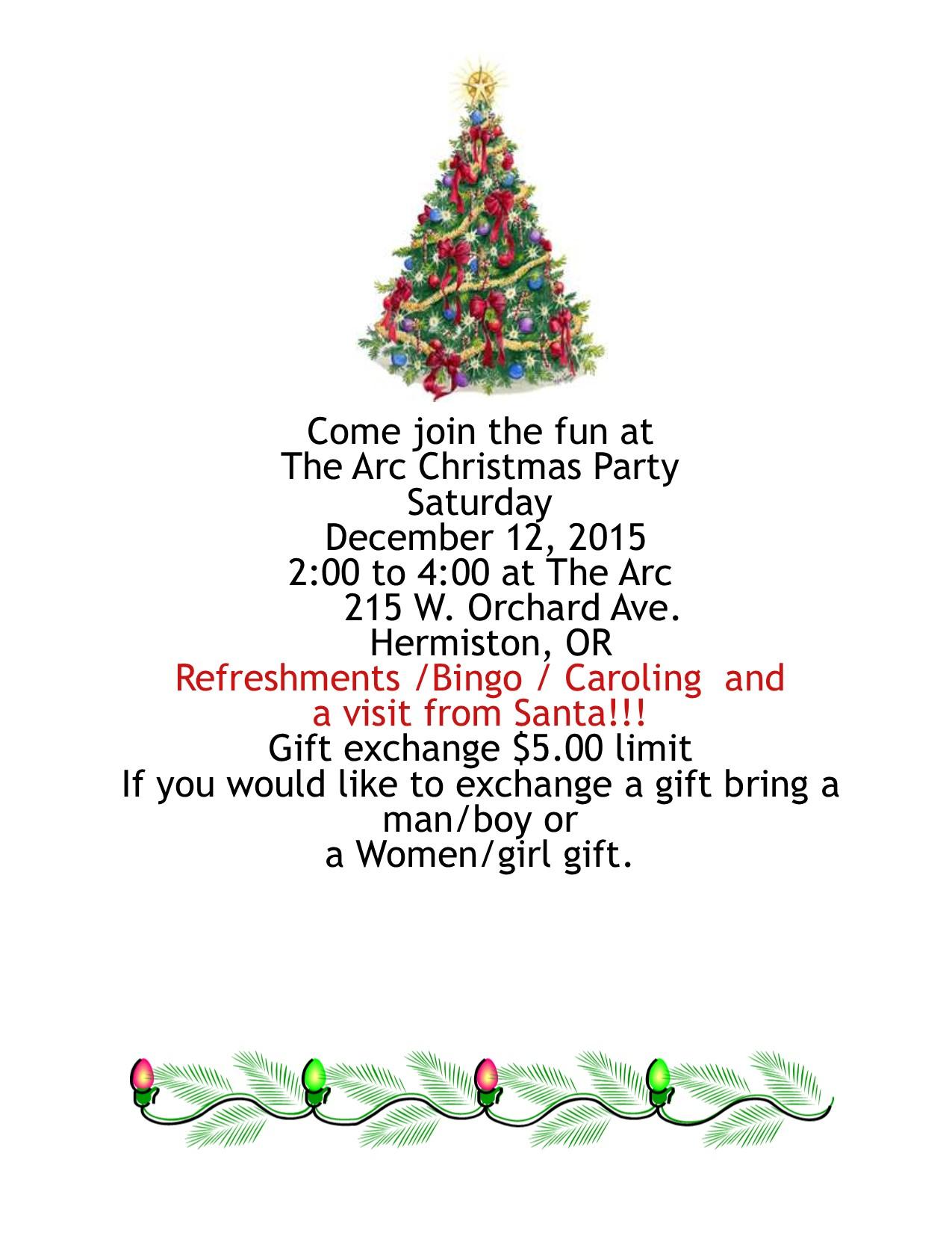 Christmas flyer 2015